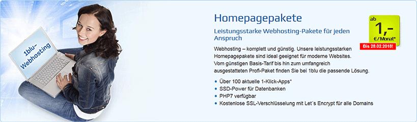 1blu Homepagepakete