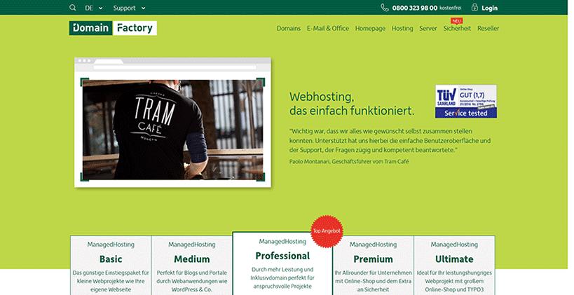 DomainFactory Startseite