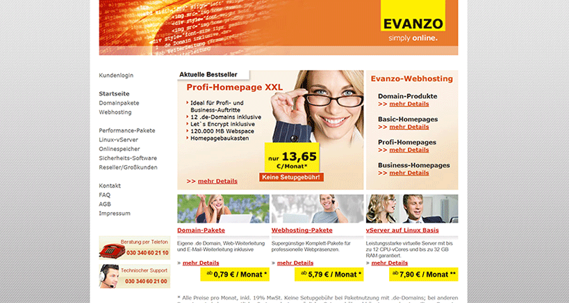 Evanzo Startseite