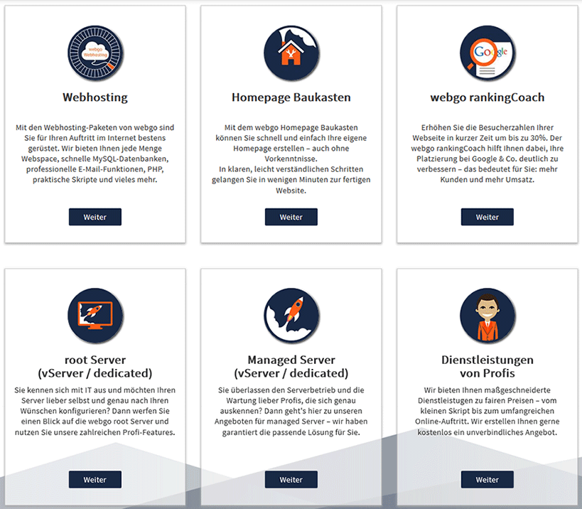 Webgo Produktumfang
