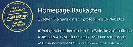 Webhosting günstig Baukasten