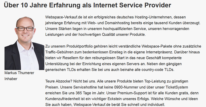Webspace-Verkauf.de Service