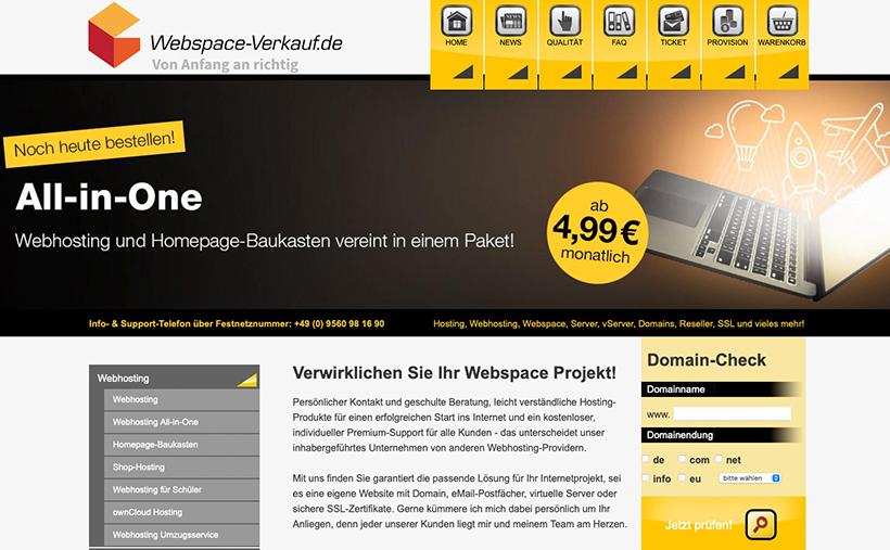Webspace-Verkauf.de Startseite