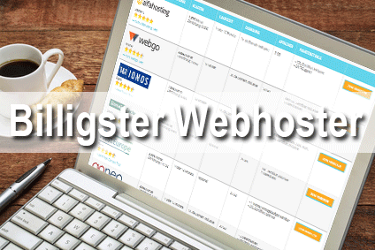 Billigster Webhoster