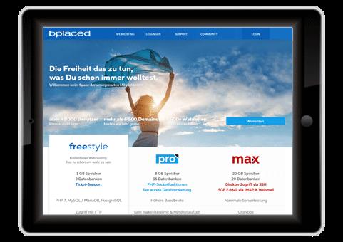 kostenloser Webhoster Blaced