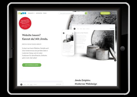 kostenloser Webhoster jimdo