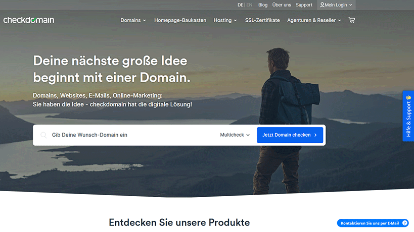 Checkdomain Startseite